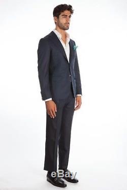 $3295 Belvest Wool Blue Suit 38 US / 48 EU Drop 8R Slim Fit Fall / Winter 2018