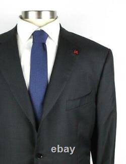 $3695 ISAIA Nuova Base S Solid Dark Grey Aquaspider Wool Suit 50 R (Fits 48 R)