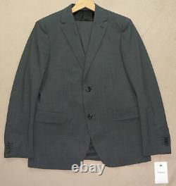 36S Theory 2-Piece NEW $499 Suit Men 36 Slim Fit Charcoal Weller HC 34x27 NWT