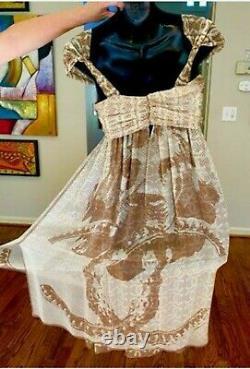 $4,600 CHANEL 2010 Lion Camellia Pin Dress Set Suit 34 36 38 2 4 6 Top 10c S M
