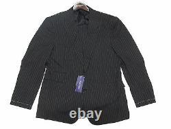 $4,995 Ralph Lauren Purple Label Mens Striped Wool Drake Slim Custom Fit Suit
