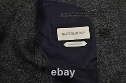 $400 NEW Suit Supply Havana Double Breasted Slim Men Jacket Blazer 50 UK40