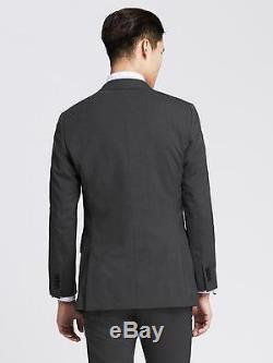 $415 BANANA REPUBLIC MONOGRAM Size 38R Suit Jacket Blazer Gray Slim Fit