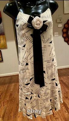 $4155 New CHANEL 2005 2pc Alphabet Print Dress SET Suit 36 38 40 4 6 8 Top M 05p