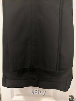 $425 Perry Ellis Mens Tuxedo Suit Black Slim Fit Size 38R 2PC Unfinished NEW