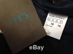 $4495 EIDOS Mens SLIM FIT WOOL SUIT Blue Plaid JACKET PANTS Italy US 40 EU 50