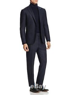 $4495 EIDOS Mens Slim Fit Wool Suit Blue Check JACKET PANTS Italy US 38 R EU 48
