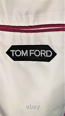 48R Tom Ford Rose Pink Slim Fit Velvet 2pc Tuxedo Dinner Suit with Peak Lapel