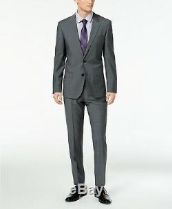 $595 Hugo Boss Men's Slim Fit Dark Gray Henry / Griffin 182 2 PC Suit 40S 33W