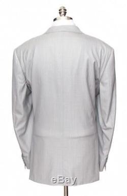$6295 NWT STEFANO RICCI Super 150's Gray Striped Slim Fit 2Btn Suit 60 6R 50 R