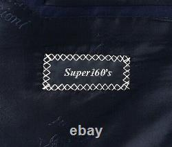 $6700 NWT BRIONI Colosseo Navy Blue Super 160's Wool Suit 50 R (EU 60) fits 48