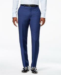 $749 CALVIN KLEIN Men's BLUE WOOL EXTREME SLIM FIT SUIT JACKET BLAZER PANTS 42 R