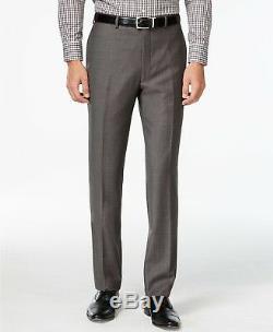 $799 CALVIN KLEIN Men's GRAY SLIM FIT WOOL SUIT JACKET BLAZER PANTS 42 R