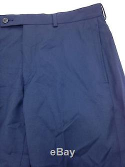 $800 CALVIN KLEIN men BLUE SLIM-FIT 2 PIECE SUIT WOOL JACKET PANTS BLAZER 36 S
