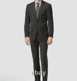 $800 Calvin Klein Mens Gray Extreme Slim Fit Wool Suit Jacket Blazer Pants 42 R