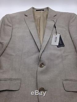 $810 KENNETH COLE Men BEIGE SLIM-FIT 2 PIECE JACKET SPORT COAT SUIT PANTS 38 R