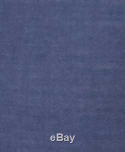 $850 DKNY Mens Slim Fit Wool Suit Blue Textured 2 PIECE JACKET BLAZER PANTS 38 S