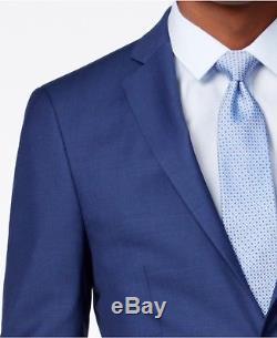 $864 CALVIN KLEIN Men Extreme Slim X Fit Wool Suit Blue 2 PIECE JACKET PANTS 46L