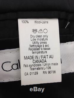 $875 CALVIN KLEIN men BLACK SLIM-FIT 2 PIECE SUIT TUXEDO SUIT BLAZER PANTS 36 S