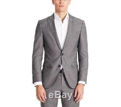 $895 HUGO BOSS Men Slim Fit Wool Sport Coat Gray Texture SUIT JACKET BLAZER 40R