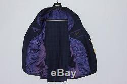 $895 Ted Baker London Endurance Navy Plaid Check Wool Suit 40R Slim Fit