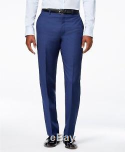 $899 CALVIN KLEIN Men's BLUE EXTREME SLIM FIT WOOL SUIT JACKET BLAZER PANTS 36 R
