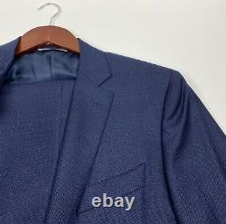 #924 CANALI Milano Modern Fit Modello 19220 Blue Two Button Suit Size 40 R