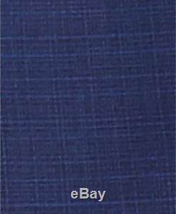 $925 HUGO BOSS Men's SLIM Fit Wool BLUE PLAID SUIT JACKET SPORT COAT BLAZER 38S