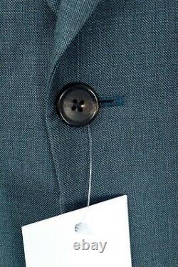 $995 NWT PAUL SMITH Green Nailhead Soho Fit Wool 2 Btn Suit 44 R (EU 54) Drop 6