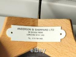 Anderson & Sheppard Suit (36R) Slim Fit Black Subtle Shadowstripe withHanger