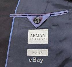 Armani Collezioni Mainline Mens Slim Fit Suit Black UK 40S IT 50 W34 L32 RP£2250