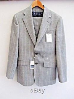 BNWT Charles Tyrwhitt Grey Clifford Glen 3 Piece Slim Fit Suit RRP £195
