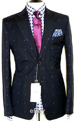 Bnwt Mens Luxury Vivienne Westwood Darker Navy Sports Slim Fit Suit Jacket 40r