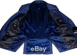Bnwt Mens Paul Smith London Slim Fit Plain Solid Navy Blue Suit 38r W32