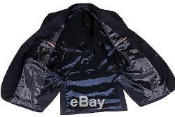 Bnwt Mens Paul Smith London Slim Fit Plain Solid Navy Suit 38r W32