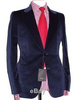 Bnwt Mens Paul Smith Ps Smoking Blue Velvet Slim Fit Suit 40r W34