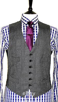 Bnwt Mens Tom Ford Prince Of Wales Checked Slim Fit 3 Piece Db Suit 38r W32