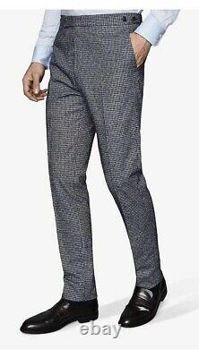 BNWT Reiss Leon Cotton Linen Slim Fit Blazer Suit Size 38, Trousers 32 Rrp£400