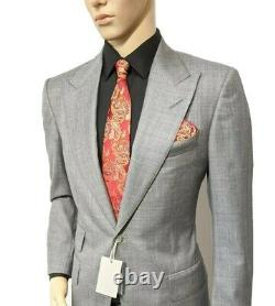 BNWT Tom Ford Mens Hand Made Slim Fit Suit Sharkskin UK 38R W32 L32 RRP £3760