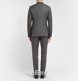 BRAND NEW Gucci Men's Dylan Grey Slim-Fit Check Wool Suit £1,790.00