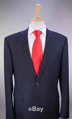 BRIONI 2017 Model Navy Blue Pinstripe Super 150's Wool 2B Slim Fit Suit 42R