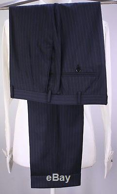 BRIONI 2017 Model Navy Blue Pinstripe Super 150's Wool 2B Slim Fit Suit 42R