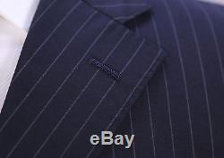 BURBERRY Black Label Japan Black Pinstripe 3Btn Slim Fit 100's Wool Suit 38S