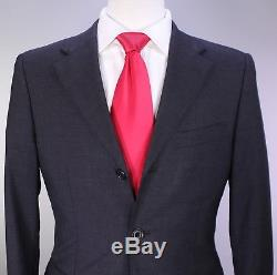 BURBERRY Black Label Japan Solid Charcoal Gray 3-Btn Slim Fit Wool Suit 34S