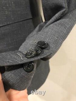 Banana Republic Monogram 36R Dark Gray, 2pc. Slim Fit, Marzotto Italian Wool