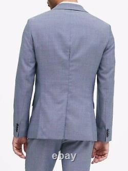 Banana Republic Slim Fit Suit Blue Birdseye Pattern Peak Lapel 40R NWT $398