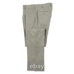Belvest Extra-Slim Fit Lightweight Seersucker Wool Double-Breasted Suit 44R