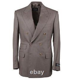 Belvest Slim Fit Three-Piece Super 160s Birdseye Wool Suit 40R (Eu 50)