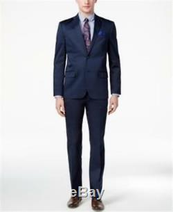 Ben Sherman Slim Fit Stretch Comfort Suit Navy Mens Size 44S 38W New