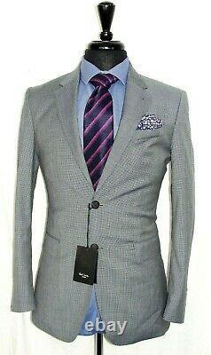 Bnwt Classic Luxury Mens Paul Smith Prince Of Wales Grey Slim Fit Suit 36r W32